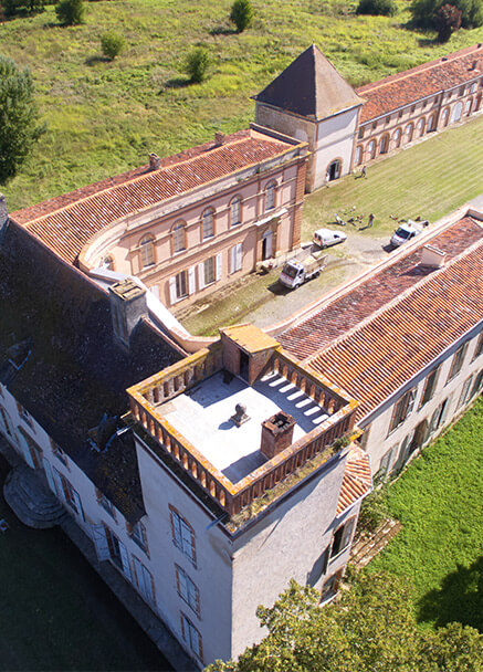 Château des Confluences vu de haut photo drône