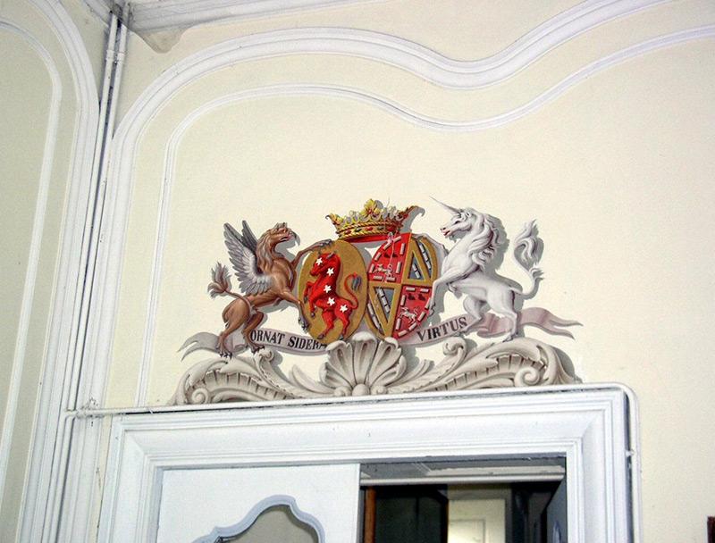 Photo blason intérieur Château des Confluences